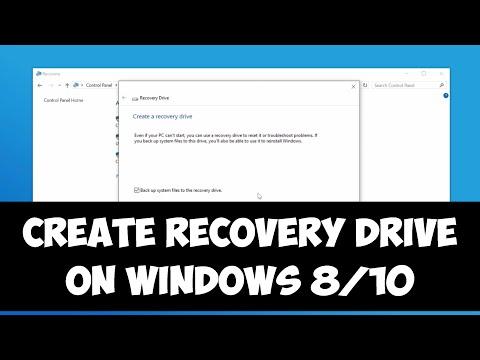Create recovery drive on Windows 8/10