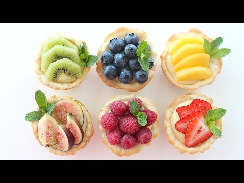 Fruit Tarts Recipe | with Sugar Cookie Pie Crusts!!