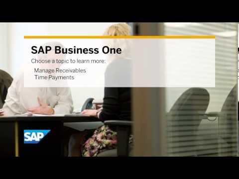 SAP Business One: Managing Cash Flow to Support Business