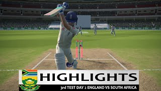 Day 2 - 3rd Test South Africa vs England Highlights Prediction Cricket 19 Hard mode 2020