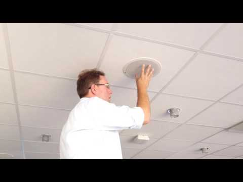 AXIS C2005 Network Ceiling Speaker installation tutorial