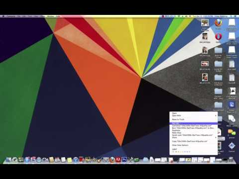 How to Unhide Files on the Mac Computer -