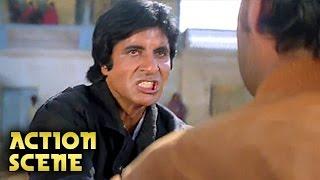 Amitabh Bachchan & Kiran Kumar Fight | Action Scene | Aaj Ka Arjun | Amitabh, Jaya Prada | HD