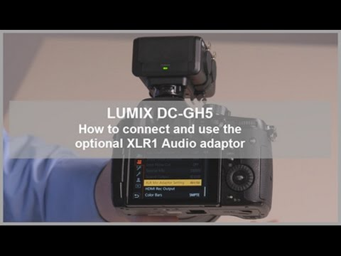 LUMIX DC-GH5, DC-GH5S - How to connect and Use the optional XLR1 Audio Adapter