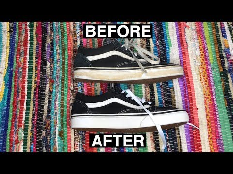 How to make sneakers look  brand new! | How to clean vans white midsoles!