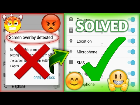 SOLVED IN 2 MIN-Screen Overlay Detected (100% WORKING)