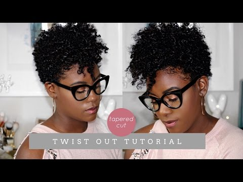 Natural Hair Tapered Cut Defined Twist Out Tutorial | iknowlee