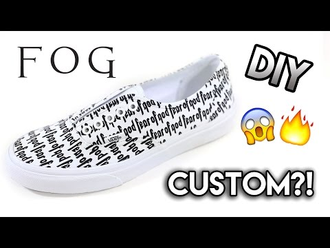 How To: Fear of God x Vans Collab Custom | Dnicecustoms Stencil Tutorial