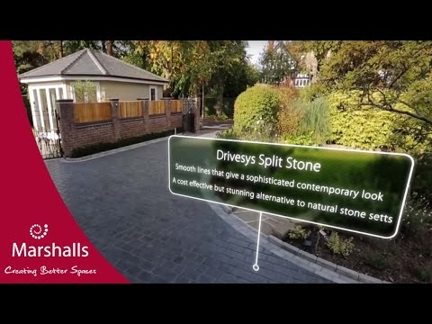 Breathtaking Driveway with Split Stone effect | Driveway Fly-Through | MarshallsTV
