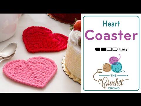 How to Crochet A💖 Heart: Coasters