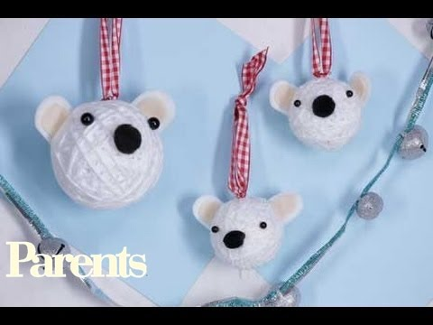 Christmas Crafts: Polar Bear Christmas Ornaments | Parents
