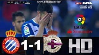 Espanyol vs Deportivo (1-1) RESUMEN & GOLES 06/01/17 Liga Santander HD