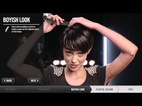 How To Create Short Hairstyles - Pixie, Boyish, Playful Volume | Redken
