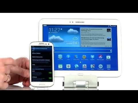 Samsung Galaxy Tab 3 - mobiles Internet über Smartphone