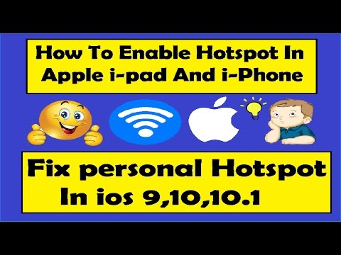 How To Enable Hotspot In Apple I-Pad Air-2 | Activate Jio 4G Personal Hotspot on ipad-iPhone