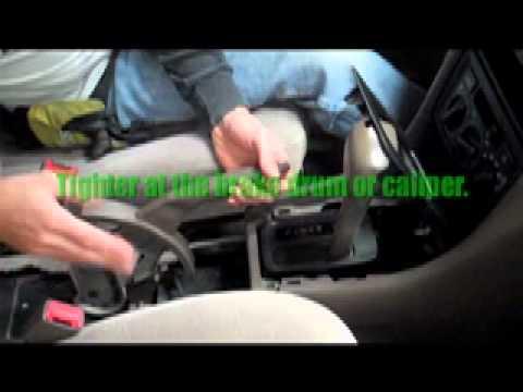 Adjusting a Hand Brake on a car