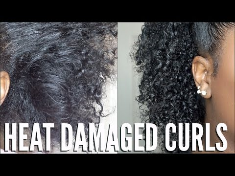 HEAT DAMAGED NATURAL HAIR | SIMPLE CURL ROUTINE