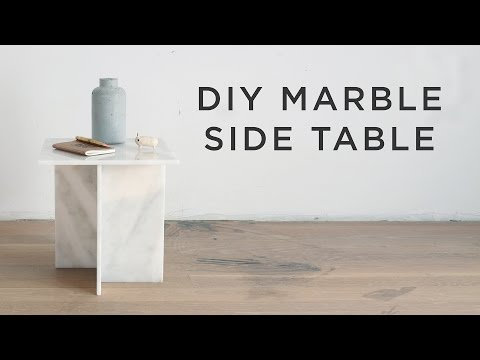 DIY Marble Side Table
