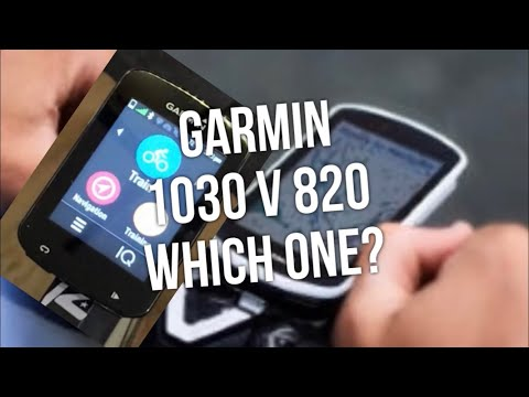 Garmin 1030 or 820, Which One ! Setup Screen Auto Pause etc