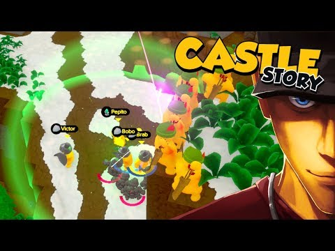 Castle Story PUSHING THE LINE They are trying to dig under!| Let's Play Castle Story Gameplay