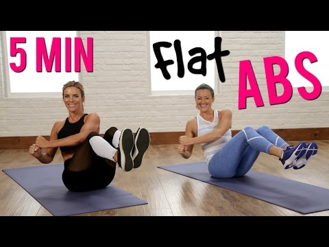 5 Minute Flat Abs Workout w/ POPSUGAR