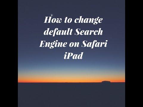 Safari iPad change default search engine