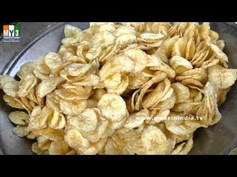 CRISPY RAW BANANA CHIPS  | MAKING OF PLANTAIN CHIPS | HOW TO MAKE BANANA CHIPS street food