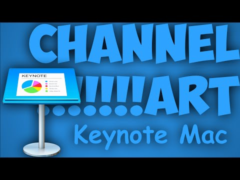 How To - Create A Channel Art Using Keynote On Mac - Template Link In The Destcription
