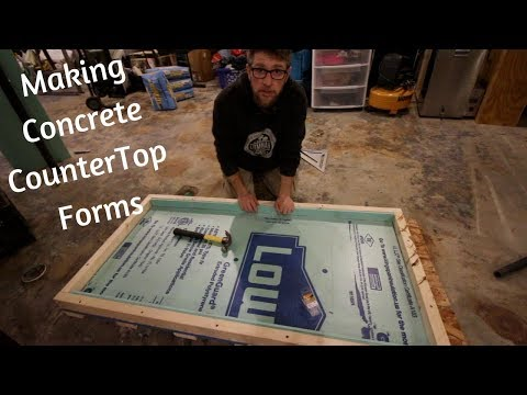 Making Forms for our Concrete Desk Top Project