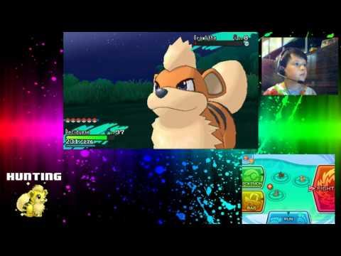Pokemon Moon Shiny Hunting for Growlithe and Zubat!