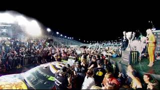 360 VIDEO: MARTIN TRUEX JR. EMERGES FROM HIS NO. 78 A CHAMPION