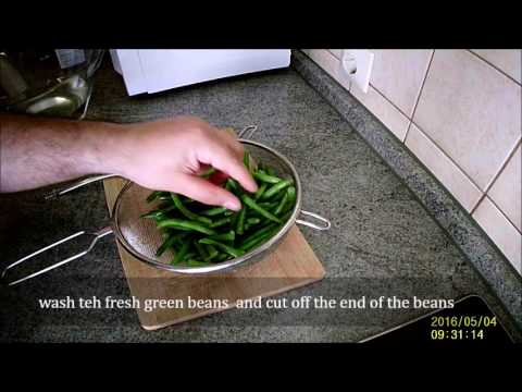 pickled green beans in 6 min
