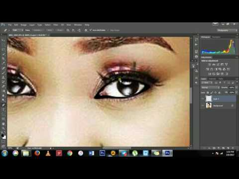 how to draw the cartoon eyes using photoshop
