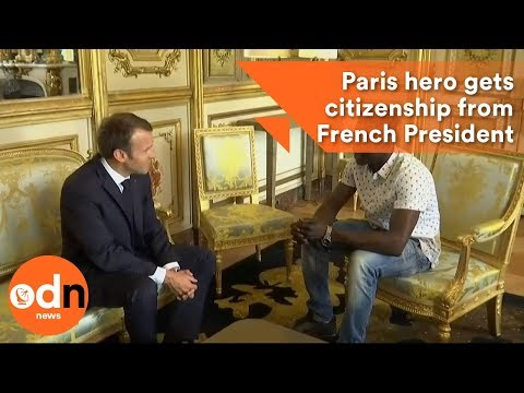 Paris hero gets citizenship from French President