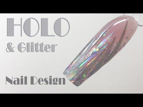 Holo Foil & Glitter Nail Design ❤️ Super Sparkly Nails by Goda