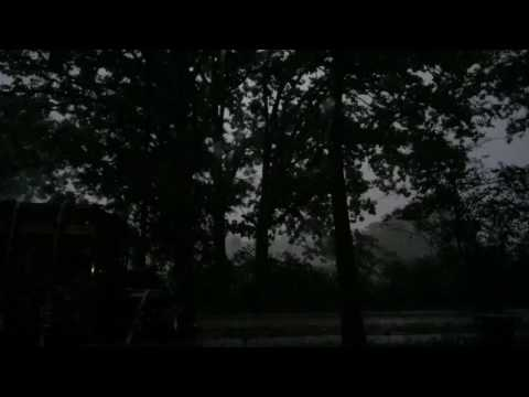 Watching outside Tornado weather view from the woods in deep east Texas ( Red River County)