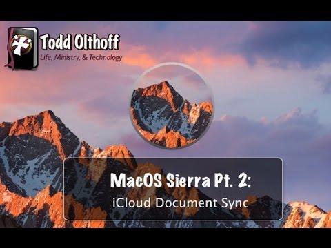 MacOS Sierra Part 2: iCloud Document Sync