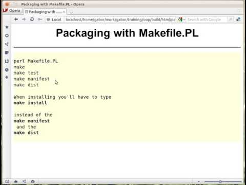 Packaging Perl modules with Makefile.PL