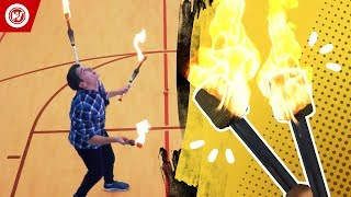 World Record | Knives, Fire, & Apples
