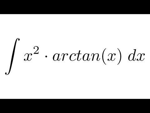 Integral of (x^2)*arctan(x) (by parts)