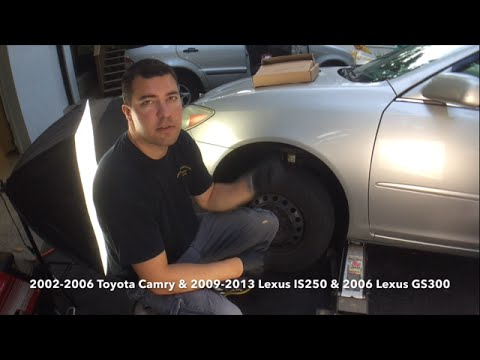 2002-2006 Toyota Camry 2009-2013 Lexus IS250 Front Brake Pads and Rotor Replacement Episode #1