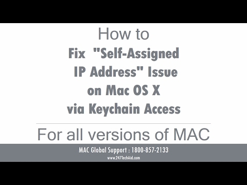 How to Fix Self Assigned IP Address Issue on Mac OS X via Keychain Access