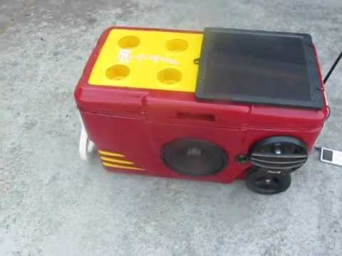 Stereo Cooler/ Ice Chest