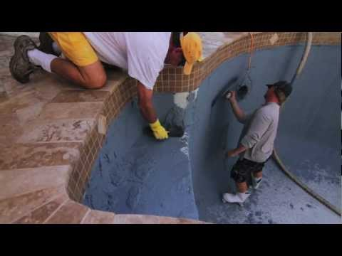 How to do Pool Resurfacing - Part Two (Travertine Pool Deck, Pavers, Refinish)