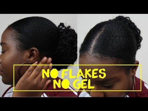HOWTO: Get A Sleek (Slick) Back Bun Without GEL   Natural Hair
