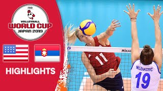USA vs. SERBIA - Highlights | Women's Volleyball World Cup 2019