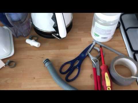 Repair dishwasher or washing machine waste pipe