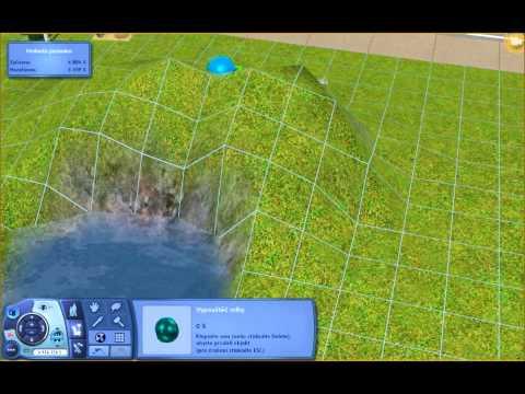 Sims 3 - How to make bridge and waterfall ??