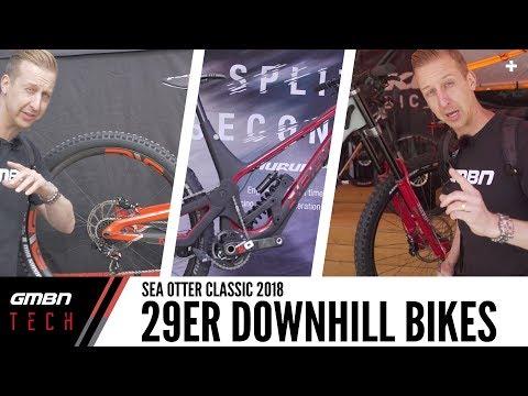 This Season's 29er Downhill Race Bikes | GMBN Tech At Sea Otter 2018