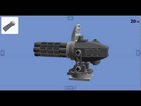 How to make a Lego® Minigun (with instructions) HD